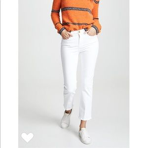Frame Le High Straight Jeans White NWT 25